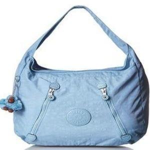 Kipling Londyn Nylon Multi-Zip Shoulder Bag Blue